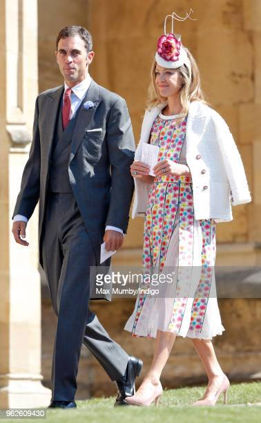Hugh van Cutsem and Rose van Cutsem attend the wedding of Prince Harry to Ms Meghan Markle at St George's Chapel Windsor Castle on May 19 2018 in...