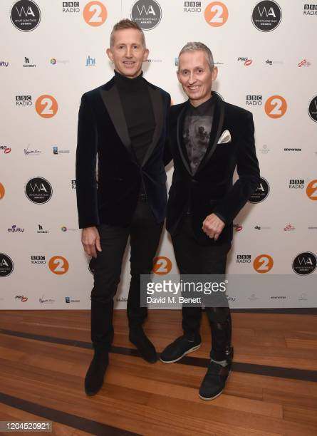 Hugh Vanstone and George Stiles attend The WhatsOnStage Awards 2020 at The Prince of Wales Theatre on March 1 2020 in London England