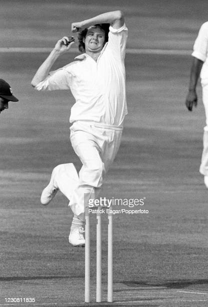 Hugh Wilson of Surrey bowling during the John Player League match between Surrey and Worcestershire at The Oval, London, 9th September 1979....