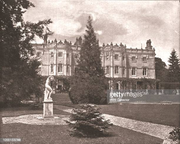 Hughenden Manor High Wycombe Buckinghamshire 1894 Red brick Victorian mansion home of British Prime Minister Benjamin Disraeli from 1848 to 1881 From...