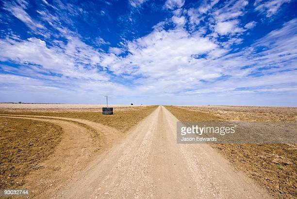 A rough dirt track constitutes a major arterial road in the Outback.