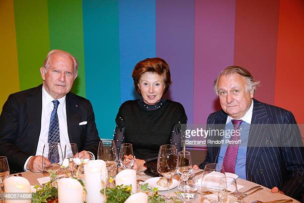 Hughes Gall MarieLouise de Clermont Tonnerre and Duc de Noailles attend the 'Fondation Claude Pompidou' Charity Party at Fondation Louis Vuitton on...