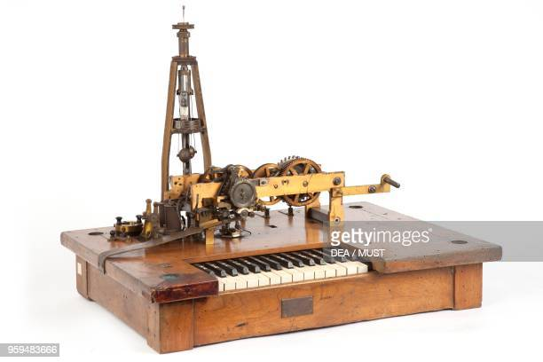 Hughes type telegraph built by Clemente Diena and C Turin Italy 19th century