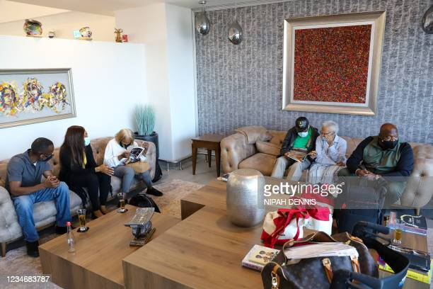 Hughes Van Ellis , his sister Viola Ford Fletcher , and family members arrive from the US at the Kotoka International Airport in Accra on August 14,...