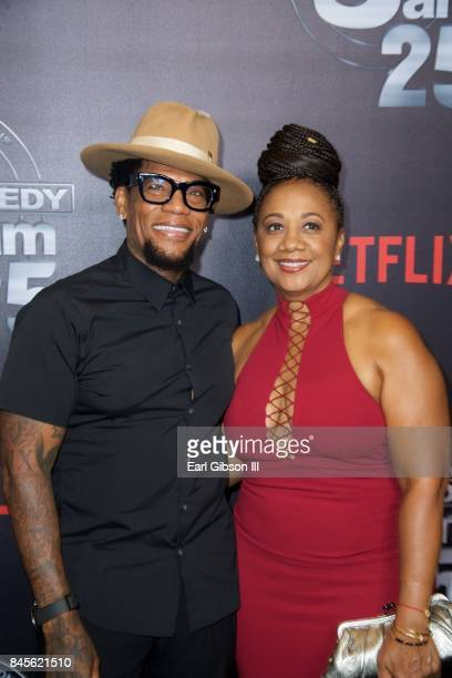 DL Hughley and LaDonna Hughley attend Netflix Presents Russell Simmons Def Comedy Jam 25 Special Event at The Beverly Hilton Hotel on September 10...