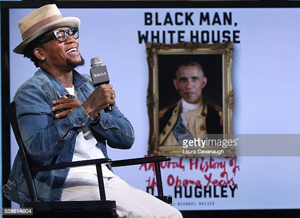 L Hughley attends AOL Build Speaker Series to discuss 'Black Man White House An Oral History of the Obama Years' at AOL Studios In New York on June 7...
