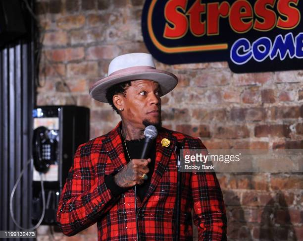 Hughley performs at The Stress Factory Comedy Club on February 6, 2020 in New Brunswick, New Jersey.