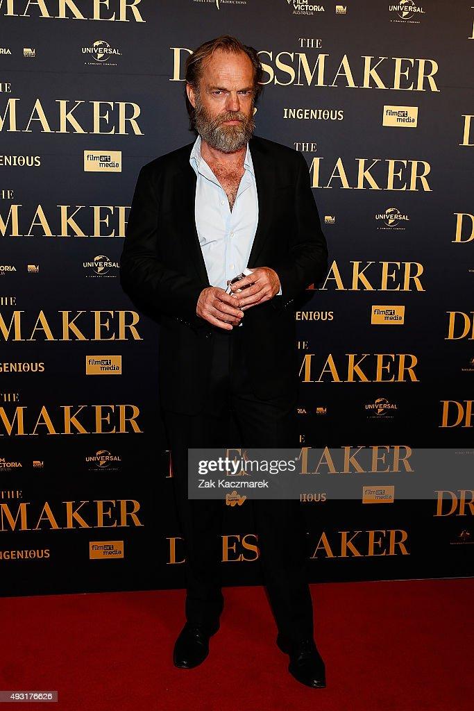 Hugi Weaving arrives ahead of the Australian premiere of 'The Dressmaker' on October 18, 2015 in Melbourne, Australia.