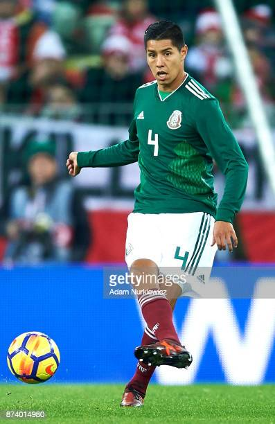 Hugo Ayala of Mexico controls the ball during the International Friendly match between Poland and Mexico at Energa Arena Stadium on November 13 2017...