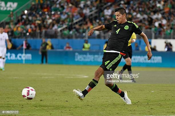Hugo Ayala of Mexico plays against New Zealand at Nissan Stadium on October 8 2016 in Nashville Tennessee