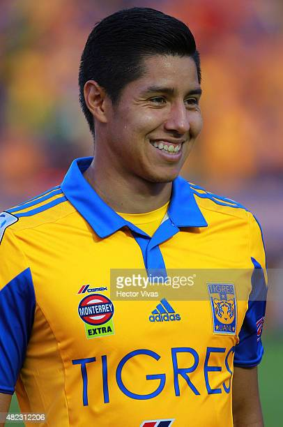 Hugo Ayala of Tigres before a first leg final match between Tigres UANL and River Plate as part of Copa Bridgestone Libertadores 2015 at...