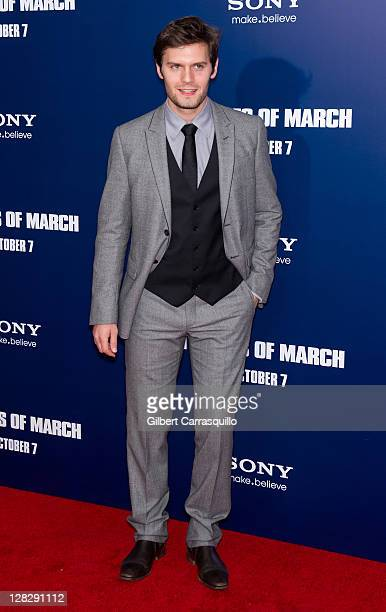 Hugo Becker attends the premiere of The Ides of March at the Ziegfeld Theater on October 5 2011 in New York City