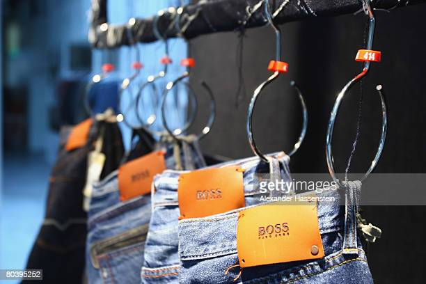 Hugo Boss goods are seen in the show room at the Hugo Boss headquarter on March 26 2008 in Metzingen Germany The Hugo Boss AG managing board...