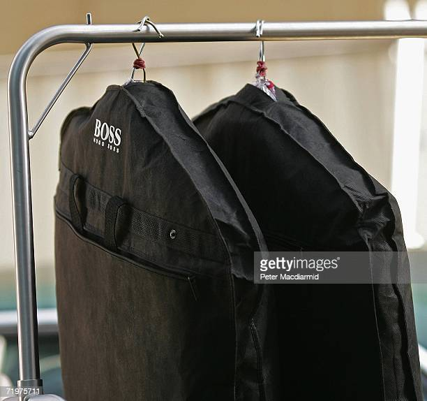 Hugo Boss suits delivered in Deputy Prime minister John Prescott's car are taken into the Midland Hotel on September 23 2006 in Manchester...