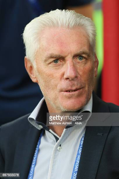 Hugo Broos head coach / manager of Cameroon during the FIFA Confederations Cup Russia 2017 Group B match between Cameroon and Chile at Spartak...