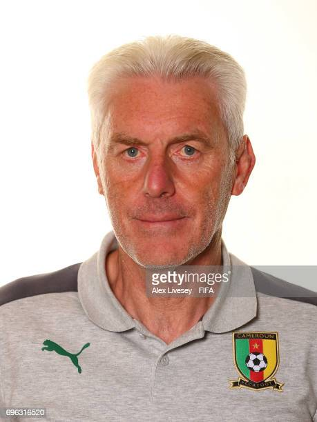 Hugo Broos the coach of Cameroon during a portrait shoot ahead of the FIFA Confederations Cup Russia 2017 at the Renaissance Monarch Hotel on June 15...
