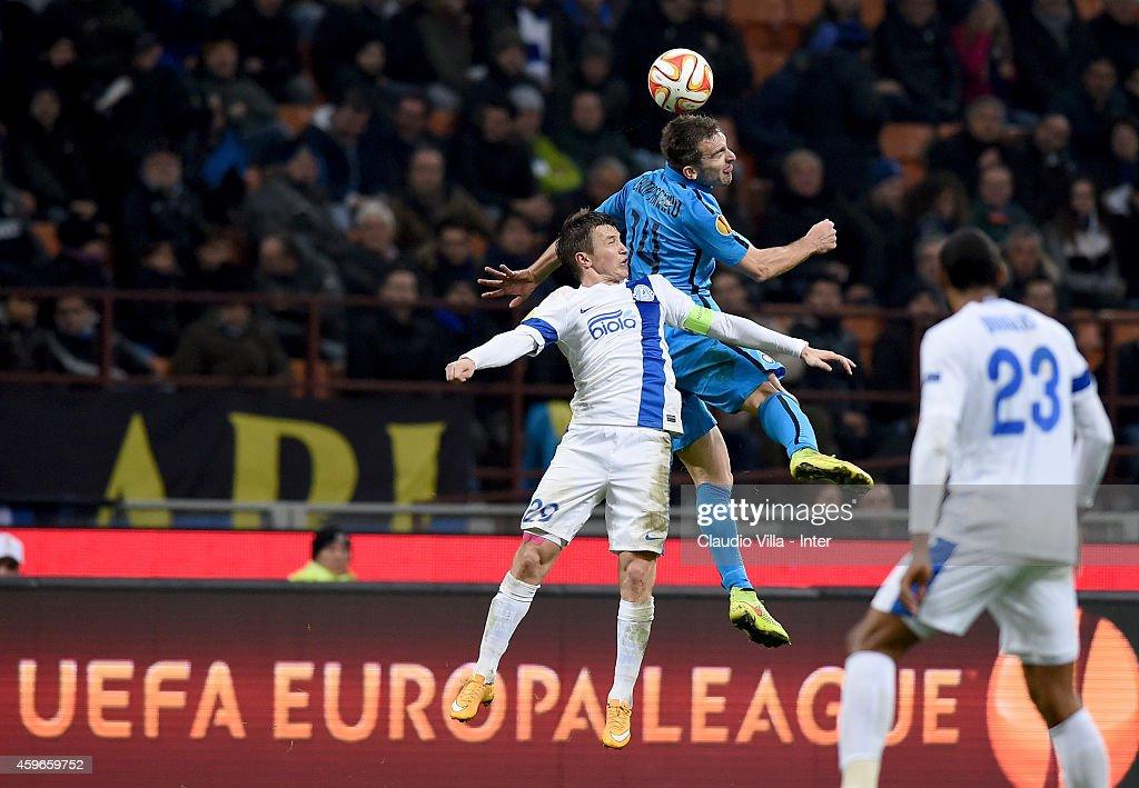 FC Internazionale Milano v FC Dnipro Dnipropetrovsk - UEFA Europa League