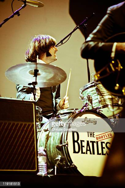 Hugo Degenhardt of the Bootleg Beatles performs on stage in his role as Ringo Starr at the Royal Albert Hall on December 6 2010 in London UK