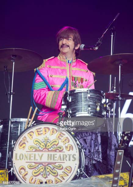 Hugo Degenhardt of The Bootleg Beatles performs with The Royal Liverpool Philharmonic Orchestra performs at Festival No 6 on September 10 2017 in...