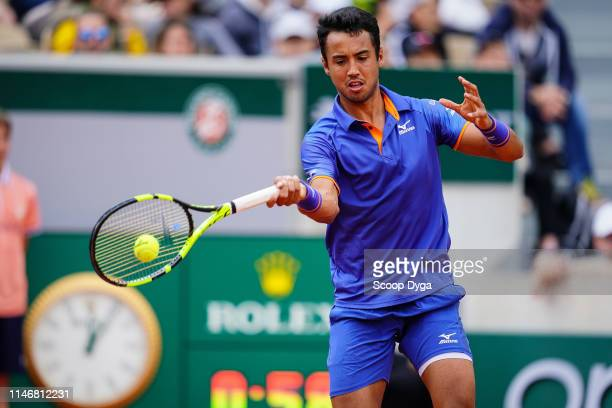 Hugo Dellien of Bolivia during the Day 4 of Roland Garros on May 29, 2019 in Paris, France.