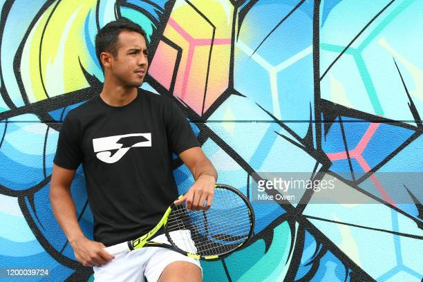 Hugo Dellien of Bolivia poses for a portrait ahead of the 2020 Australian Open at Melbourne Park on January 17, 2020 in Melbourne, Australia.
