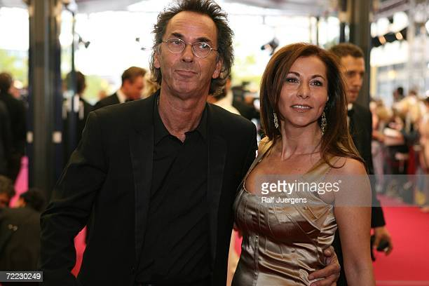 Hugo Egon Balder and Canan Balder attend the German Television Awards at the Coloneum on October 20 2006 in Cologne Germany