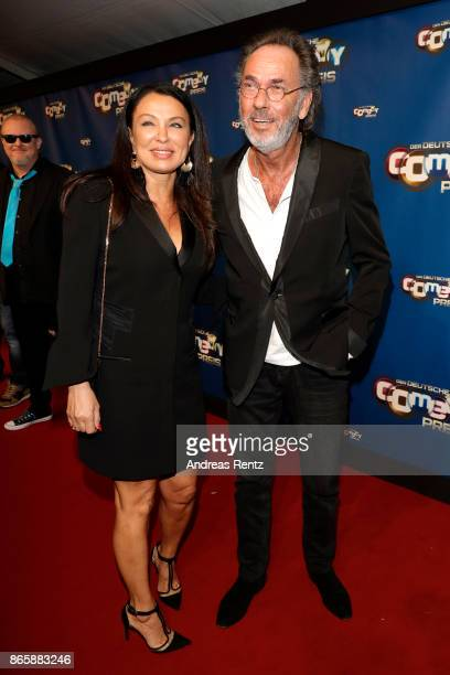 Hugo Egon Balder and his girlfriend Elena attend the 21st Annual German Comedy Awards at Studio in Koeln Muehlheim on October 24 2017 in Cologne...