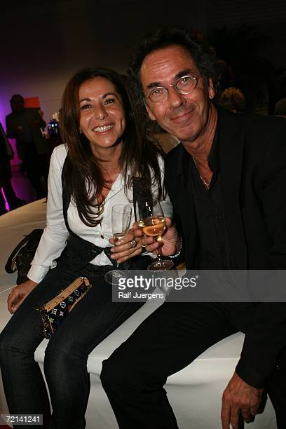 Hugo Egon Balder and his wife Canan Balder attend the after show party of German Comedy Awards at The Coloneum on October 10 2006 in Cologne Germany