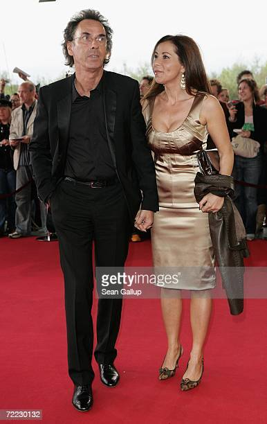 Hugo Egon Balder and his wife Canan Balder attend the German Television Awards at the Coloneum October 20 2006 in Cologne Germany