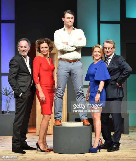 Hugo Egon Balder Madeleine Niesche Max Claus Jeanette Biedermann and Rene Heinersdorff during 'Aufguss' rehearsal photo call at Hotel Bayerischer Hof...