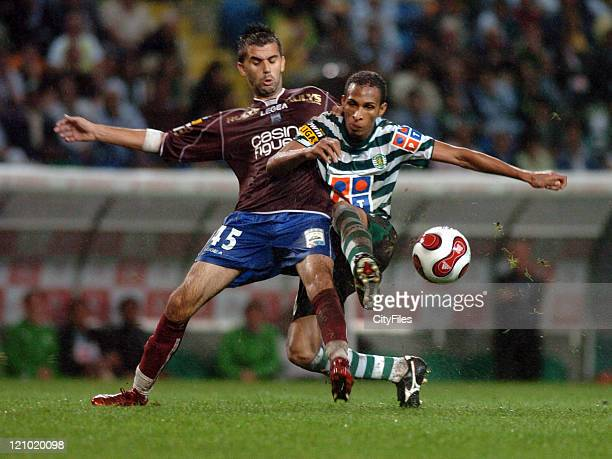 Hugo Faria of Sporting during the match between Uniao de Leiria and Sporting Lisbon at Alvalade XXI Stadium in Lisbon Portugal on October 2 2006