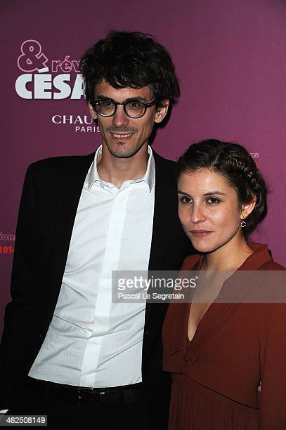 Hugo Gelin and Flore Bonaventura attend the 'Cesar Revelations 2014' Cocktail Party and Dinner at Le Meurice on January 13 2014 in Paris France