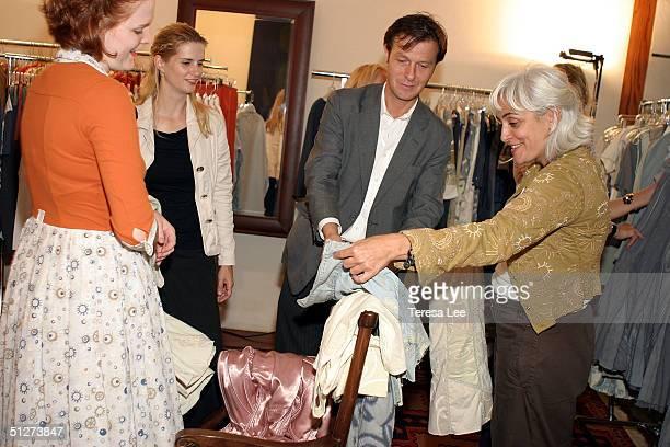 Hugo Guinness Elliott Puckette and Desingner Alabama Chanin at the Project Alabama Machine during Olympus Fashion Week Spring 2005 September 12 2004...