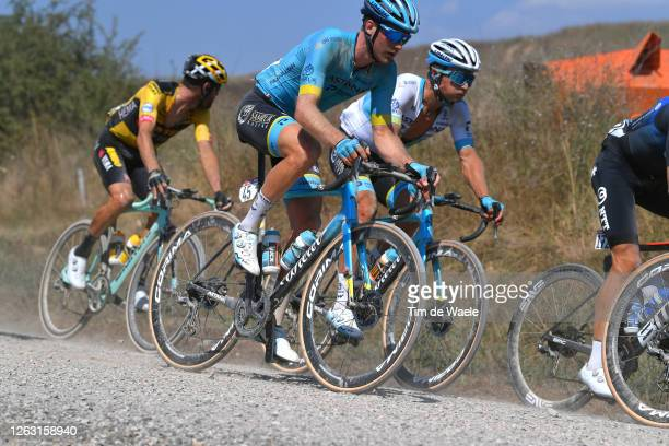 Hugo Houle of Canada and Astana Pro Team / Alexey Lutsenko of Kazakhstan and Astana Pro Team / during the Eroica - 14th Strade Bianche 2020 - Men a...