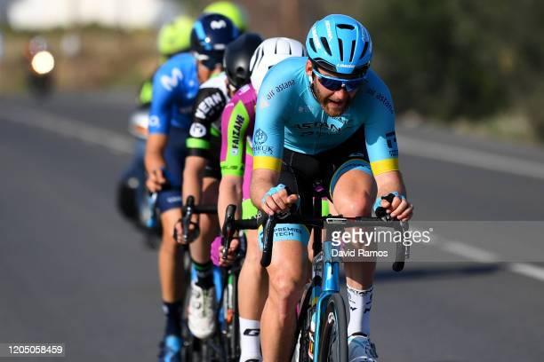 Hugo Houle of Canada and Astana Pro Team / Jon Agirre of Spain and Team Equipo Kern Pharma / Francesco Romano of Italy and Team Bardiani-Csf-Faizanè...