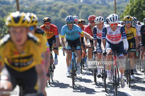 Hugo Houle of Canada and Astana Pro Team / Niklas Eg of Denmark and Team Trek - Segafredo / during the 107th Tour de France 2020, Stage 12 a 218km...