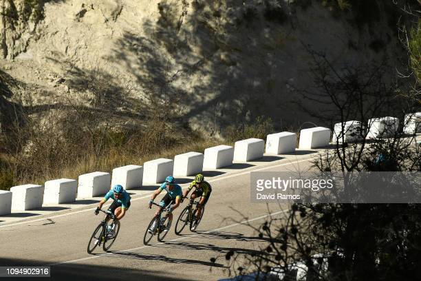 Hugo Houle of Canada and Astana Pro Team / Omar Fraile of Spain and Astana Pro Team / Johan Esteban Chaves Rubio of Colombia and Team Mitchelton -...