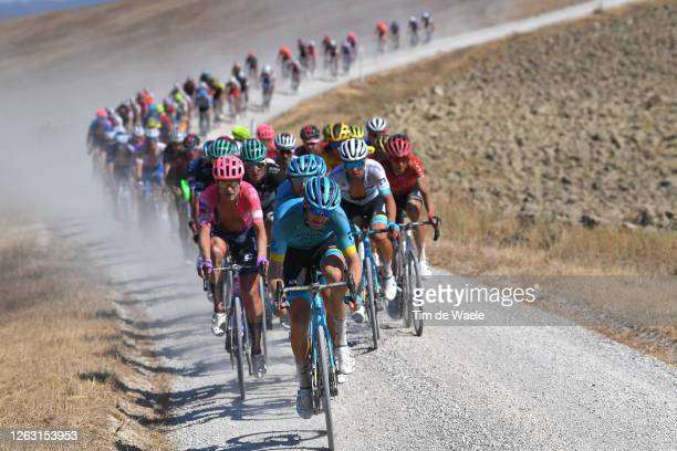 Hugo Houle of Canada and Astana Pro Team / Peloton / Dust / Gravel Strokes / during the Eroica - 14th Strade Bianche 2020 - Men a 184km race from...
