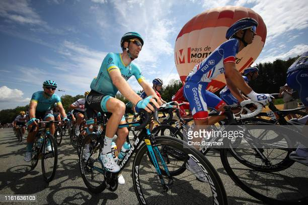 Hugo Houle of Canada and Astana Pro Team / Rudy Molard of France and Team Groupama-FDJ / Peloton / Balloon / during the 106th Tour de France 2019,...