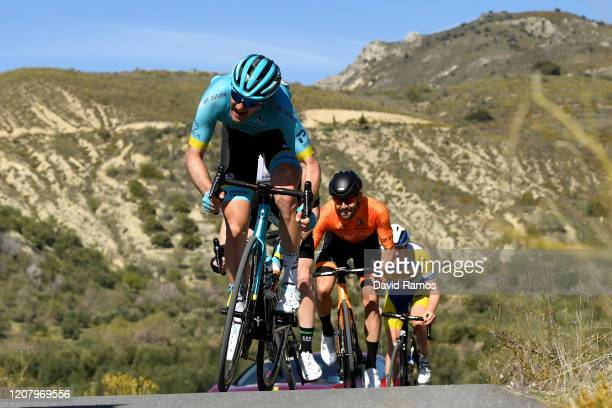 Hugo Houle of Canada and Astana Pro Team / Txomin Juaristi of Spain and Team Fundación - Orbea / Jordi Warlop of Belgium and team Sport Vlaanderen -...