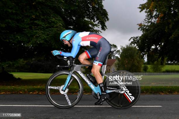 Hugo Houle of Canada / during the 92nd UCI Road World Championships 2019, Individual Time Trial Men Elite a 54km race from Northhallerton to...