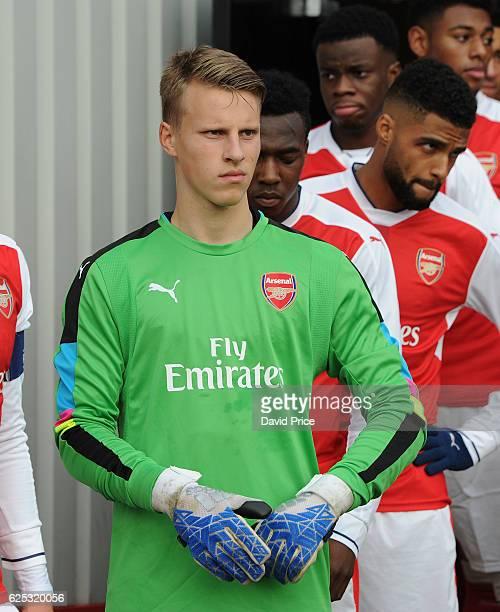 Hugo Keto of Arsenal before the UEFA Youth League match between Arsenal and Paris Saint Germain at Meadow Park on November 23 2016 in Borehamwood...