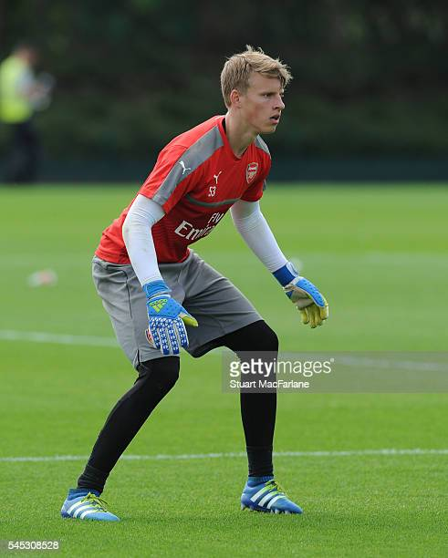 Hugo Keto of Arsenal during a training session at London Colney on July 5 2016 in St Albans England