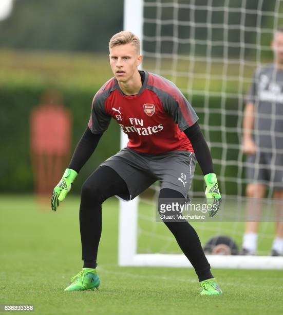 Hugo Keto of Arsenal during a training session at London Colney on August 24 2017 in St Albans England
