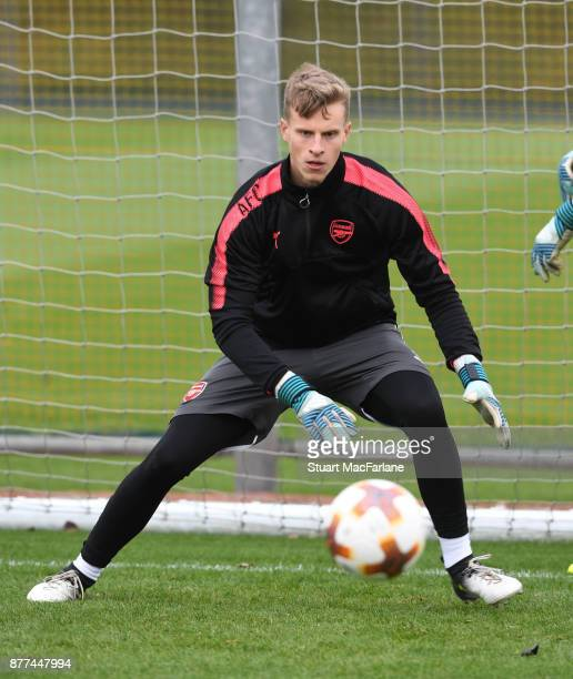 Hugo Keto of Arsenal during a training session at London Colney on November 22 2017 in St Albans England