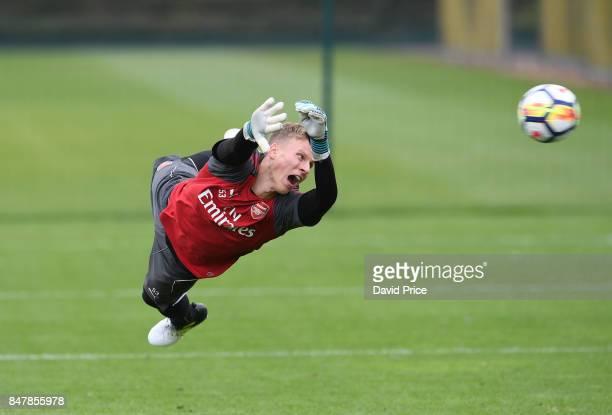Hugo Keto of Arsenal during Arsenal 1st team training session at London Colney on September 16 2017 in St Albans England