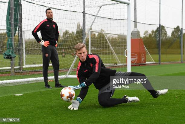 Hugo Keto of Arsenal during the Arsenal Training Session at London Colney on October 18 2017 in St Albans England