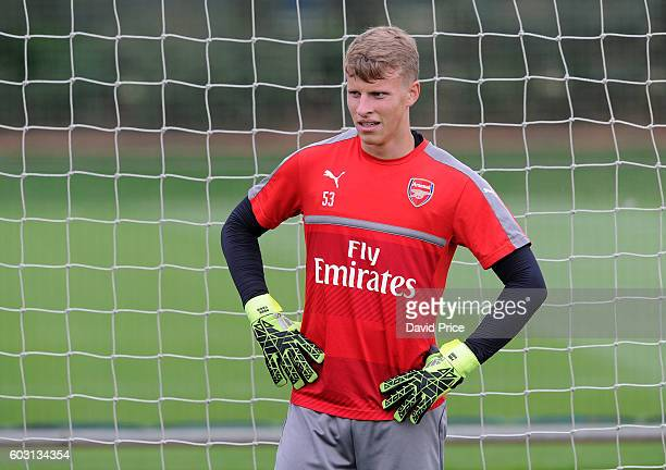 Hugo Keto of Arsenal during the Arsenal UEFA Youth League Training Session at London Colney on September 12 2016 in St Albans England