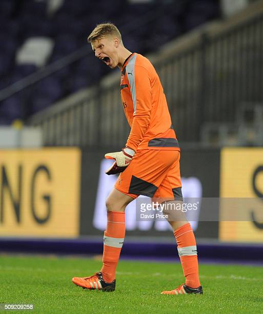 Hugo Keto of Arsenal during the match between Anderlecht and Arsenal at Constant Vanden Stock Stadium on February 9 2016 in Brussels...