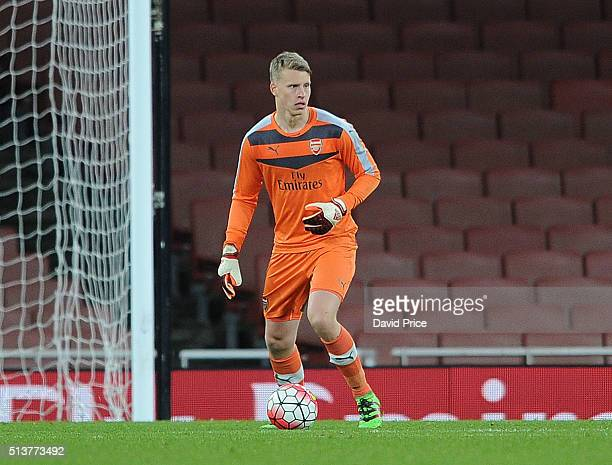 Hugo Keto of Arsenal during the match between Arsenal U18 and Liverpool U18 in the FA Youth Cup 6th round at Emirates Stadium on March 4 2016 in...